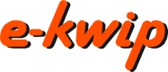 e-kwip logo orange schattiert